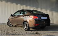 Hyundai Solaris 1.6 AT 2015 Brown